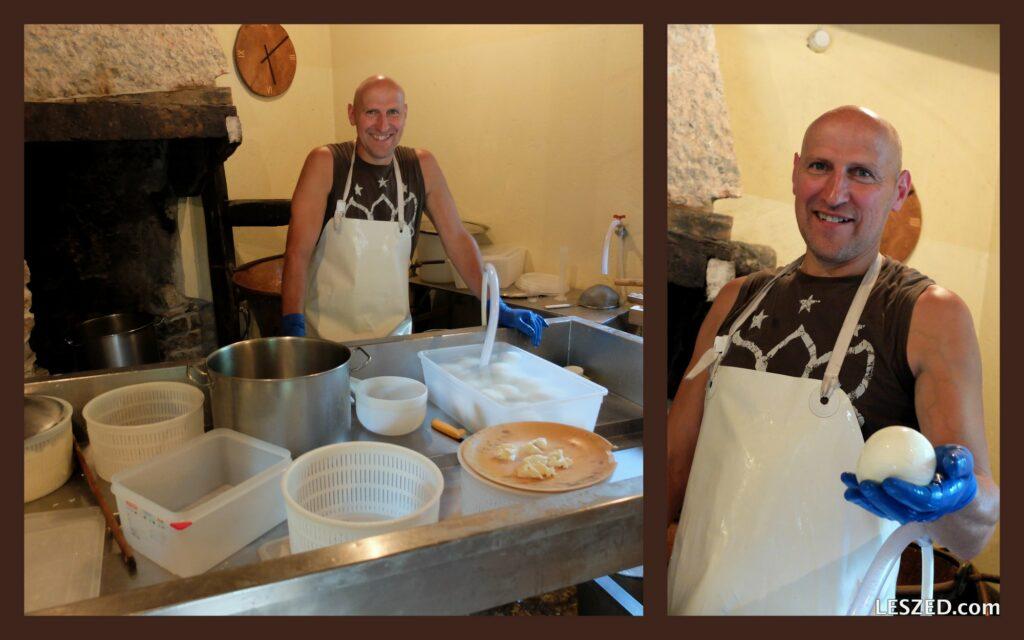 Fabrique artisanale de Mozza à Molina