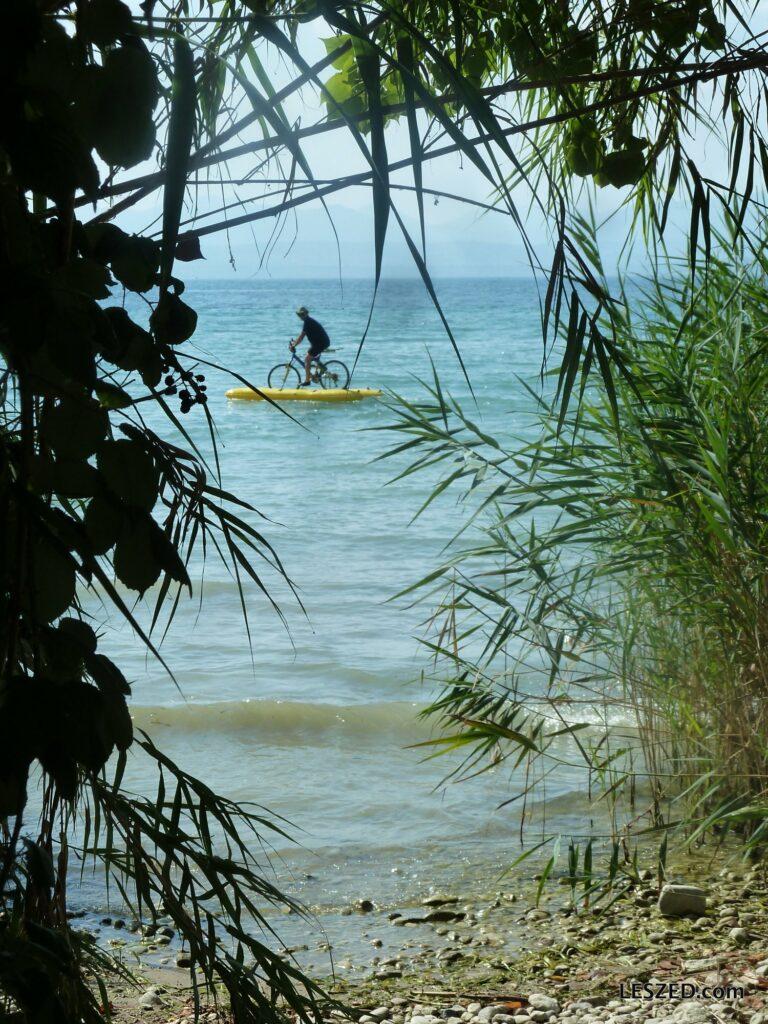 Premiers essais (waterbike / lac de Garde)