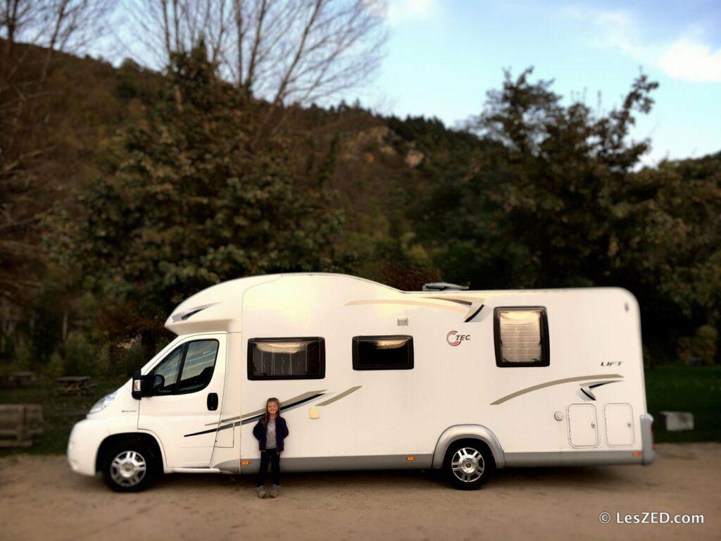 Le camping-car, loué à Josiane