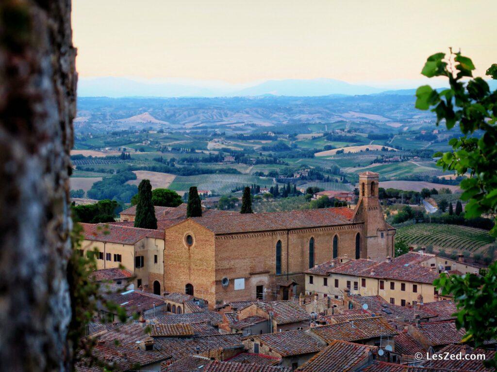 Vue sur la Toscane depuis San Gimignano
