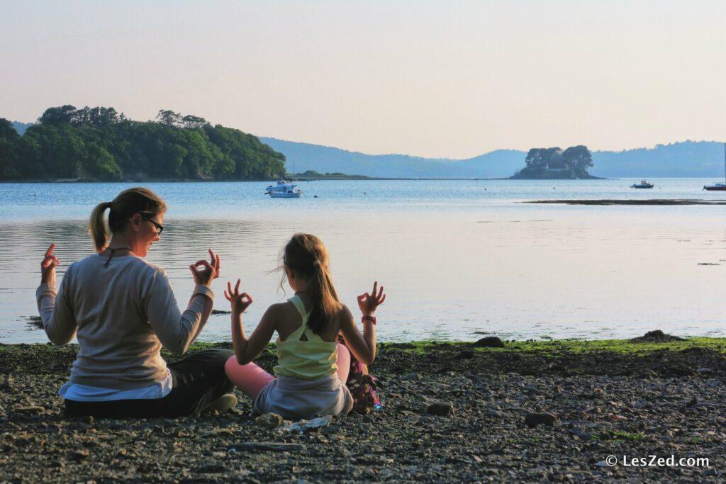 Séance Zen face à l'île d'Arun