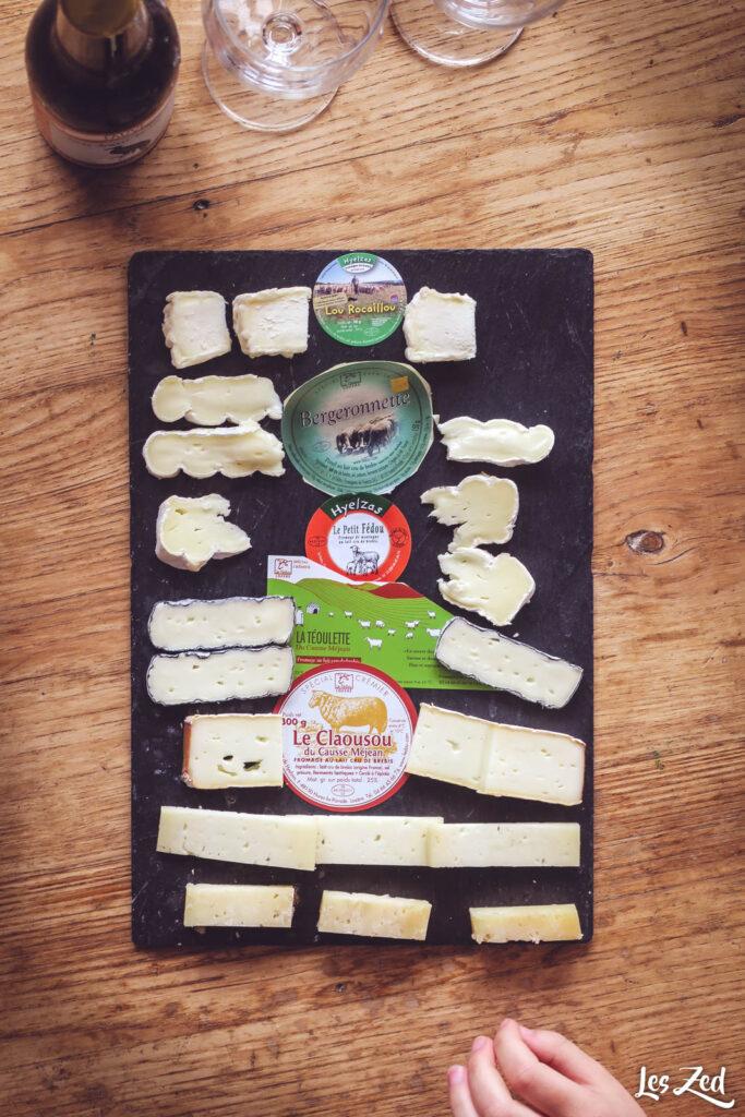 Dégustation de fromages locaux