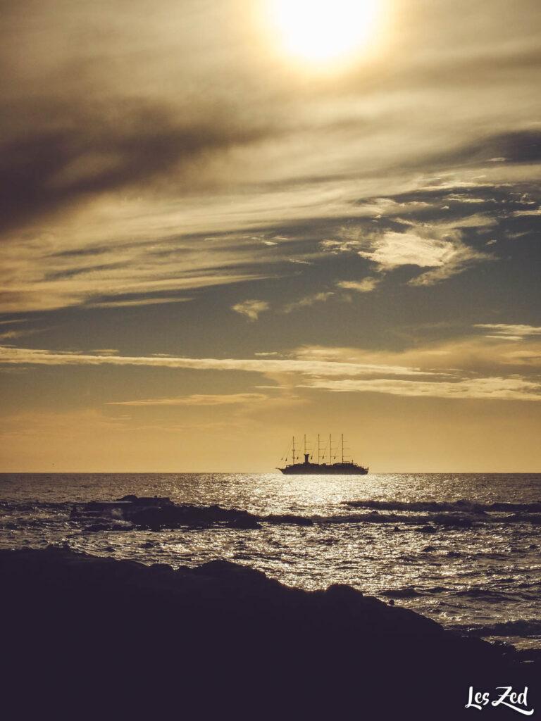 Plage de Porto au coucher de soleil