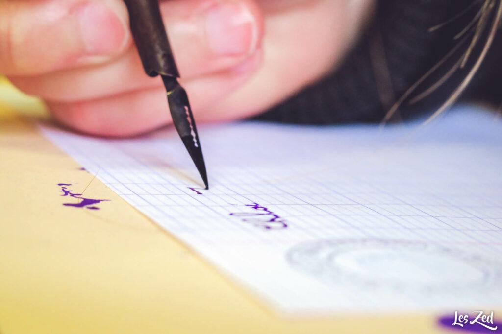 calligraphie à l'ancienne