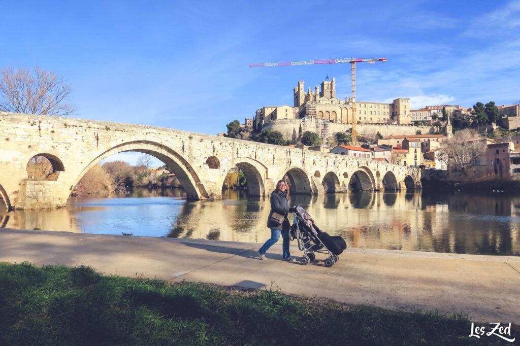 Promenade de Max et vue sur Béziers