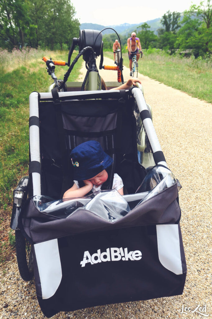 AddBike pour notre bébé installé sur vélo Benur